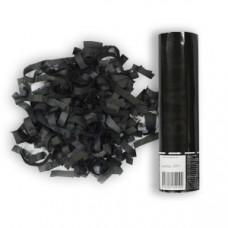 Хлопушка/Пневмо в тубе 20см Черное конфетти