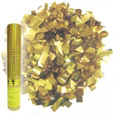 Хлопушка/Пневмо в тубе 60см 8260   Золотое конфет