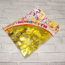 Конфетти фольга 100гр/2см/КРУГИ/золото