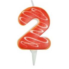 Свечи д/торта Цифра 2 /Пончик