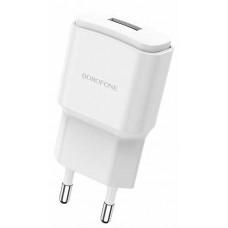 Зарядное устр. BOROFONE BA48A USB /2,1А/бел