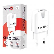 Зарядное устр. FUMIKO CH02 1USB/бел/1А