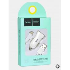 Заряд.устр. HOCO Z2/2USB+кабель iPhone 8/1.5А/бел