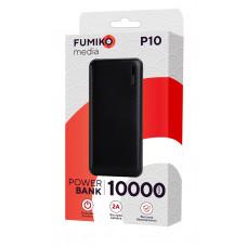 З/у Внешний аккум. FUMIKO P10  10000mAч черный
